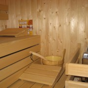 Sauna in badkamer boven – Weidevilla – Boerkerij Hollum Ameland
