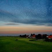 Uitzicht balkon avond – Boerkerij Wijde Blik Hollum Ameland