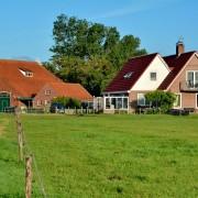 Vooraanzicht huis – Boerkerij Wijde Blik Hollum Ameland